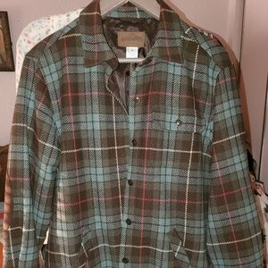 Pendleton plaid wool jacket w/elbow patches, M